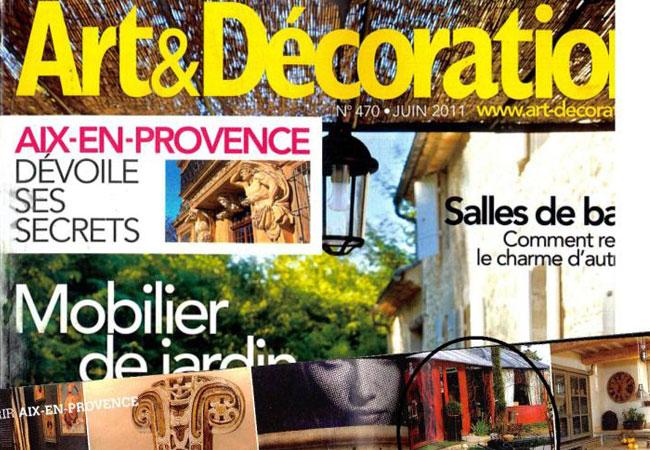 Présent dans le magazine Art & Déco