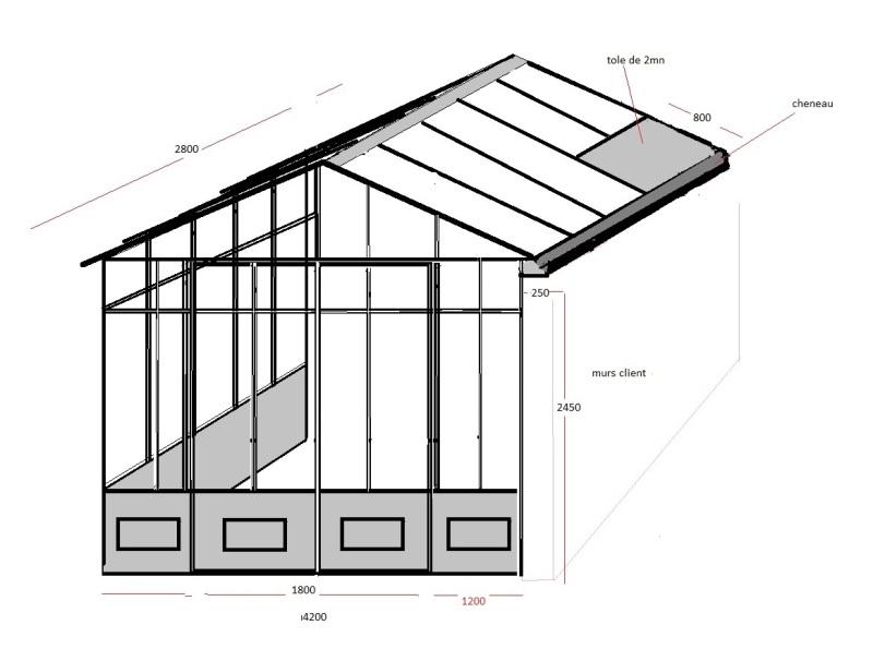 pièce à vivre 2 pentes, style veranda